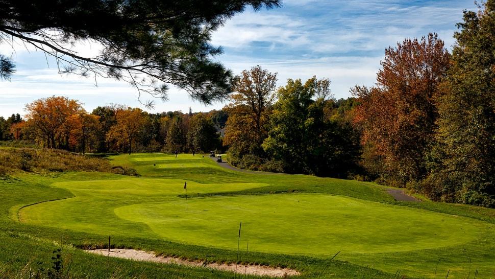 Golfplatz im Panorama
